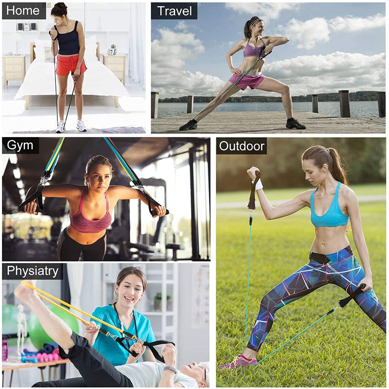 11Pcs/Set Latex Resistance Bands Crossfit Training Exercise Yoga Tubes Pull Rope Rubber Expander Elastic Bands Fitness Equipment-4