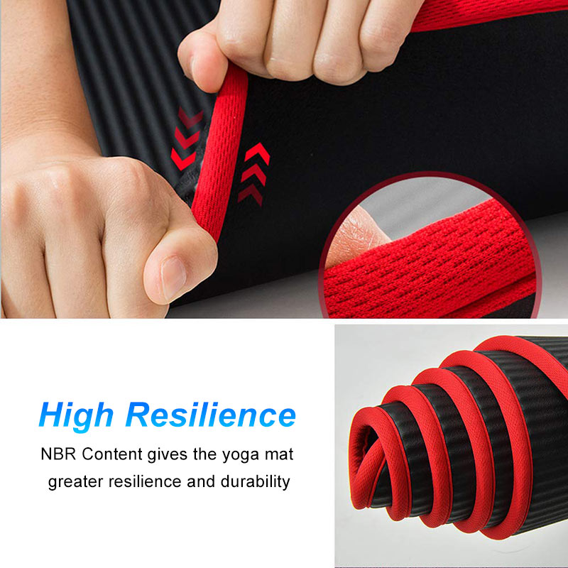 10mm Yoga Mat Extra Thick 1830*610mm NRB Non-slip Pillow Mat For Men Women Fitness Tasteless Gym Exercise Pads Pilates Yoga Mat-3