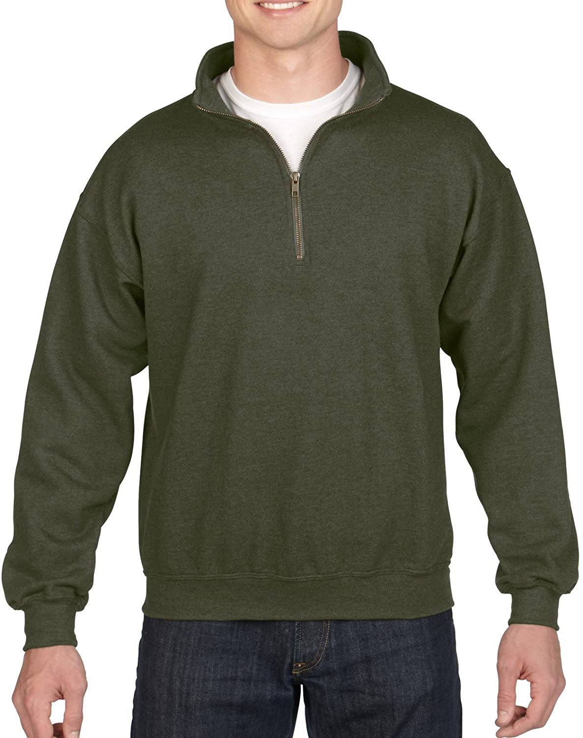Gildan Men's Fleece Quarter-Zip Cadet Collar Sweatshirt