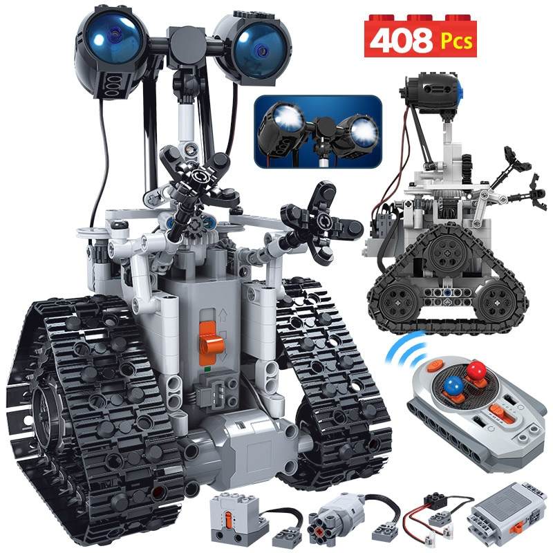 ERBO 408PCS City Creative RC Robot Electric Building Blocks Technic Remote Control Intelligent Robot Bricks Toys For Children-0
