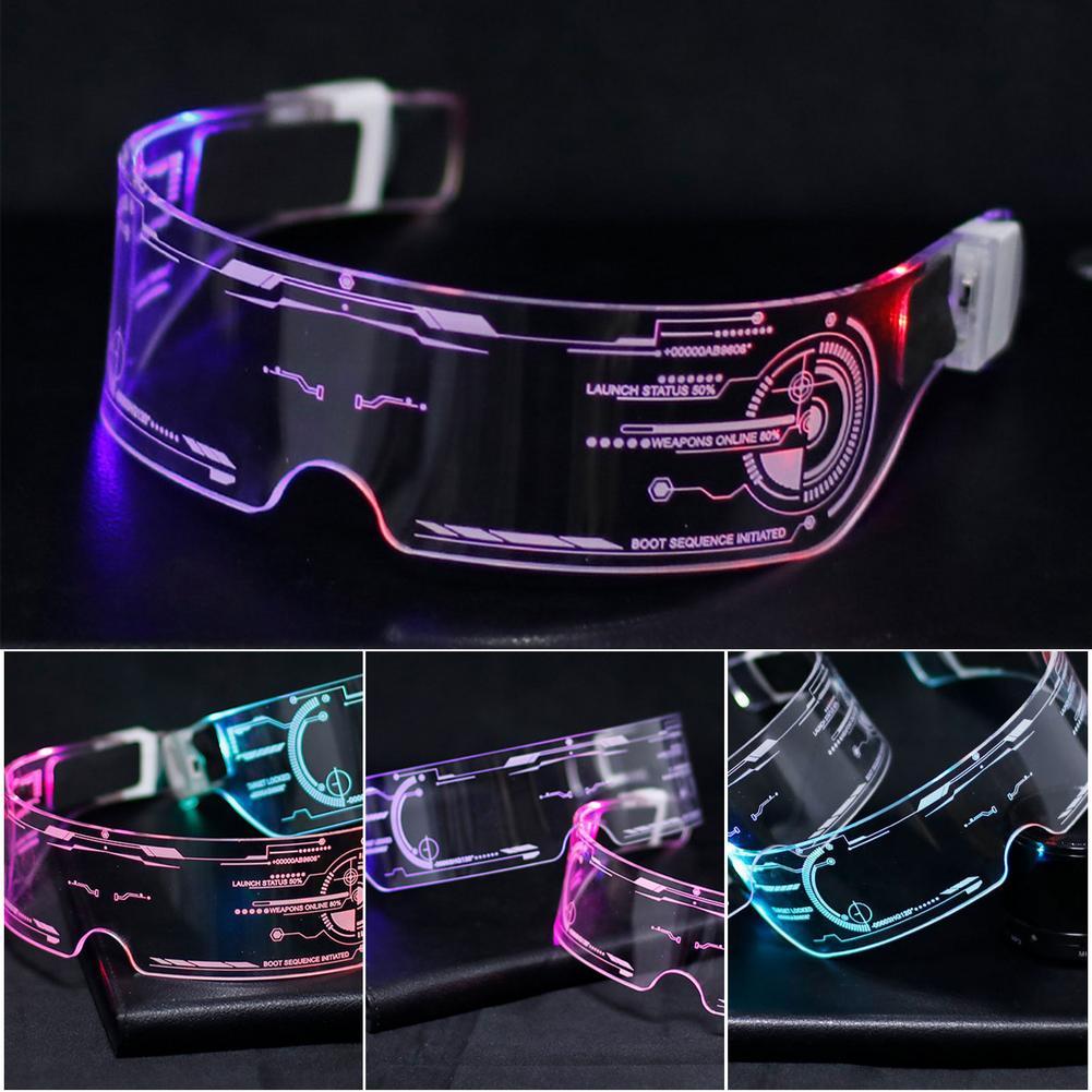 photo of LED Glasses EL Wire Neon Party Luminous LED Glasses Light Up Glasses Rave Costume Party Decor DJ Glasses Halloween Decoration