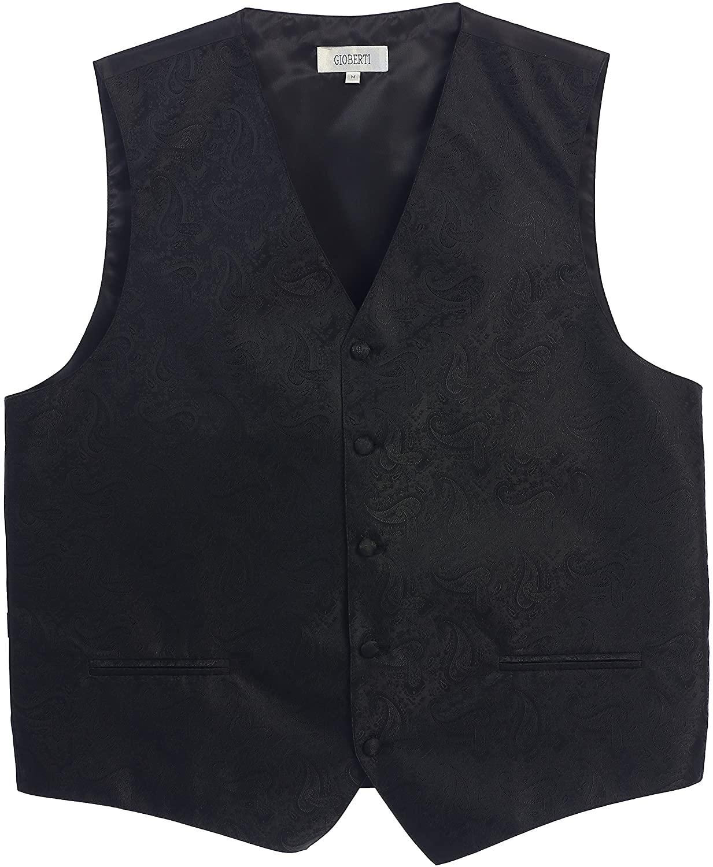 thumbnail 3 - Gioberti Men's Formal 4pc Paisley Vest Necktie Bowtie and Pocket Square