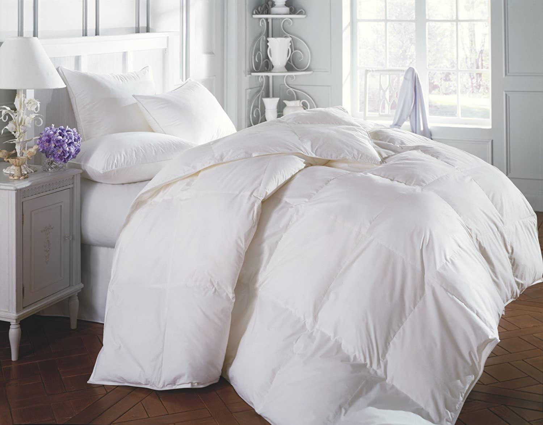 Grand Linen 3 Piece Luxury White Goose Down Alternative Comf