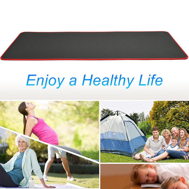 10mm Yoga Mat Extra Thick 1830*610mm NRB Non-slip Pillow Mat For Men Women Fitness Tasteless Gym Exercise Pads Pilates Yoga Mat-1