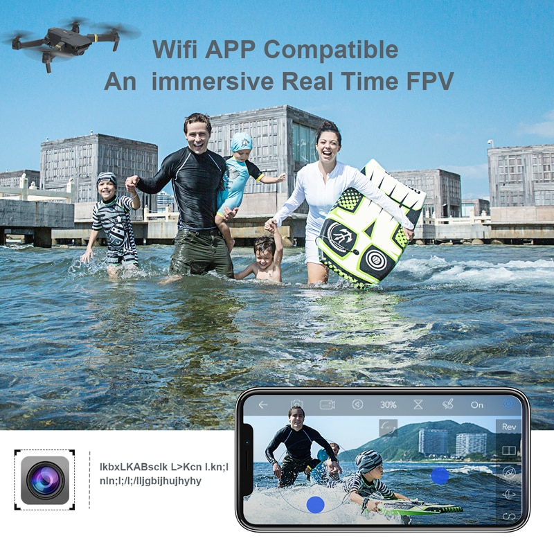 Eachine E58 WIFI FPV With Wide Angle HD 1080P/720P/480P Camera Hight Hold Mode Foldable Arm RC Quadcopter Drone X Pro RTF Dron-1