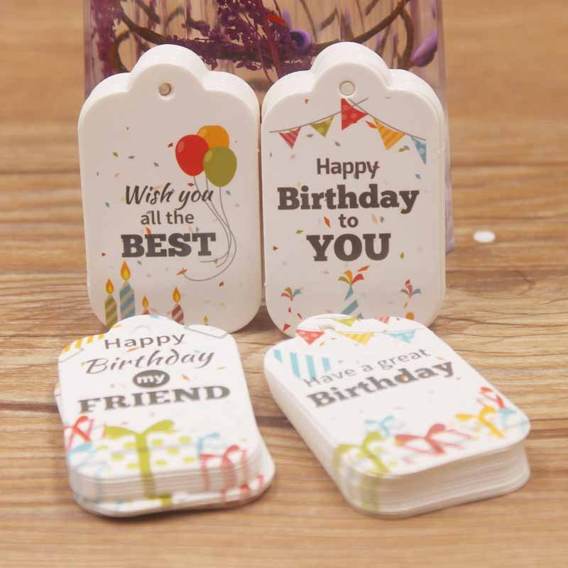 photo of Birthday Label Tag Gift Card Happy Birthday Label Paper