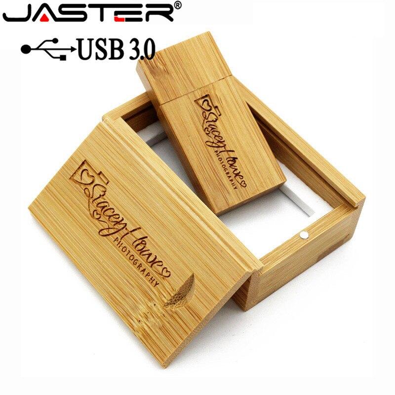 JASTER USB 3.0 Wooden usb+wood BOX usb flash drive pendrive 4GB 8GB 16GB 32GB 64GB wedding Photography gift free custom logo-1