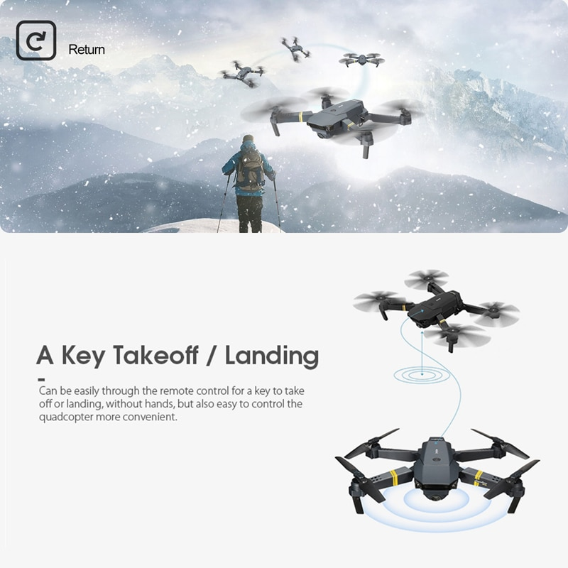 Eachine E58 WIFI FPV With Wide Angle HD 1080P/720P/480P Camera Hight Hold Mode Foldable Arm RC Quadcopter Drone X Pro RTF Dron-4