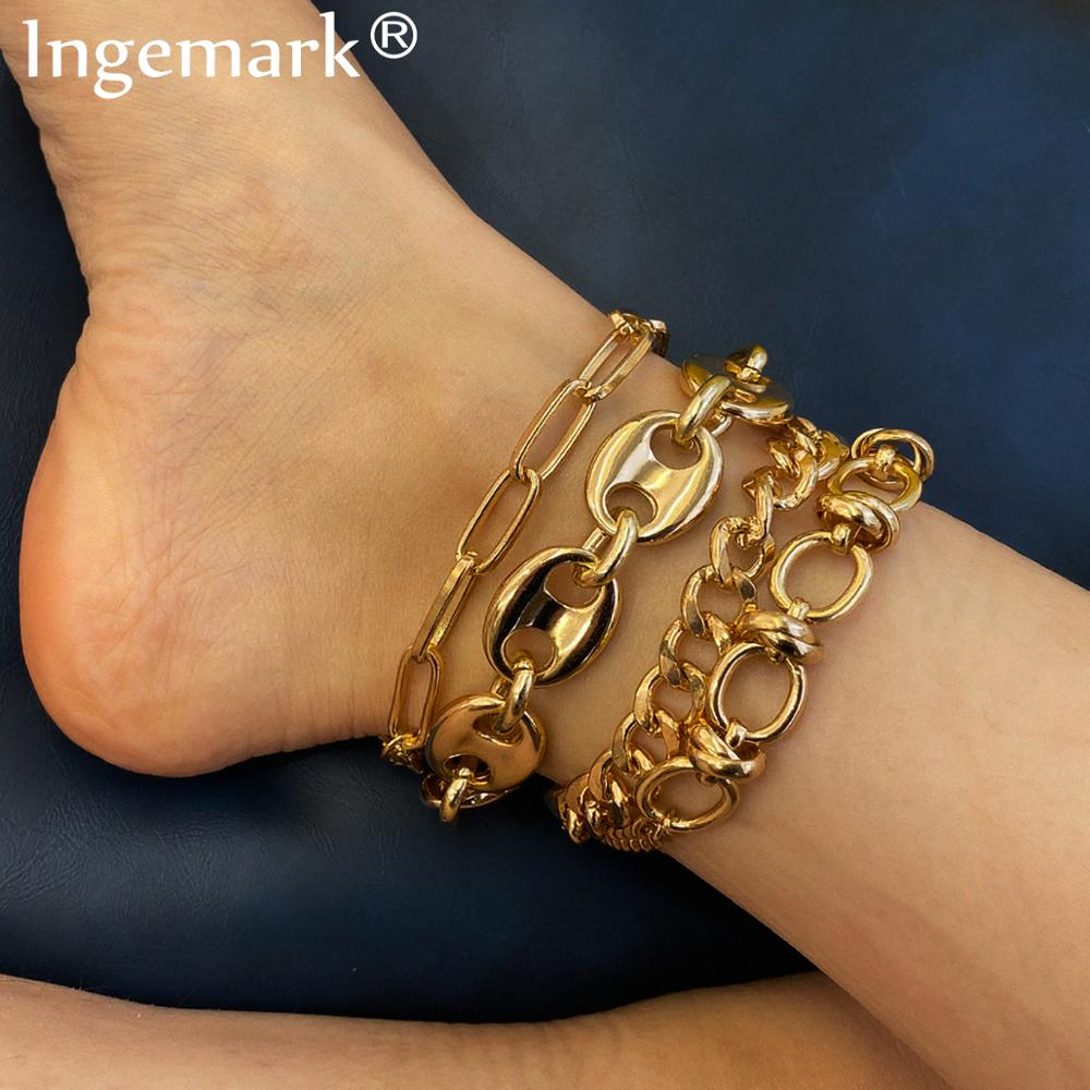 photo of Punk Heavy Metal CCB Chunky Chain Ankle Bracelet for Women Summer Beach Accessories Barefoot Sandals Boho Anklet Leg Jewelry