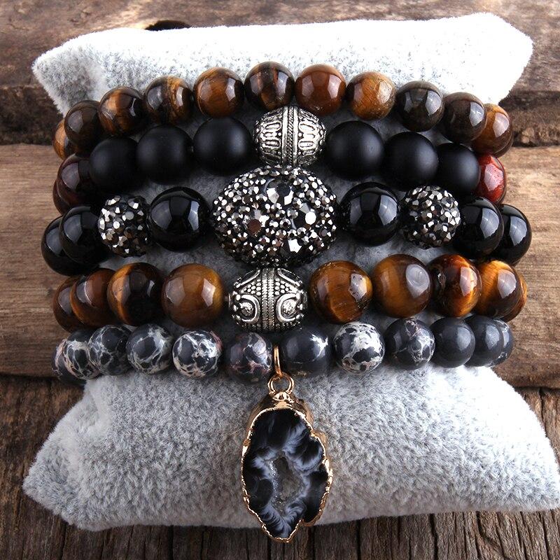 RH Fashion New Designer Boho Bracelet Set Natural Stone  5pc Beaded Bracelets Sets For Women Jewelry Gift Drop Shipping-3