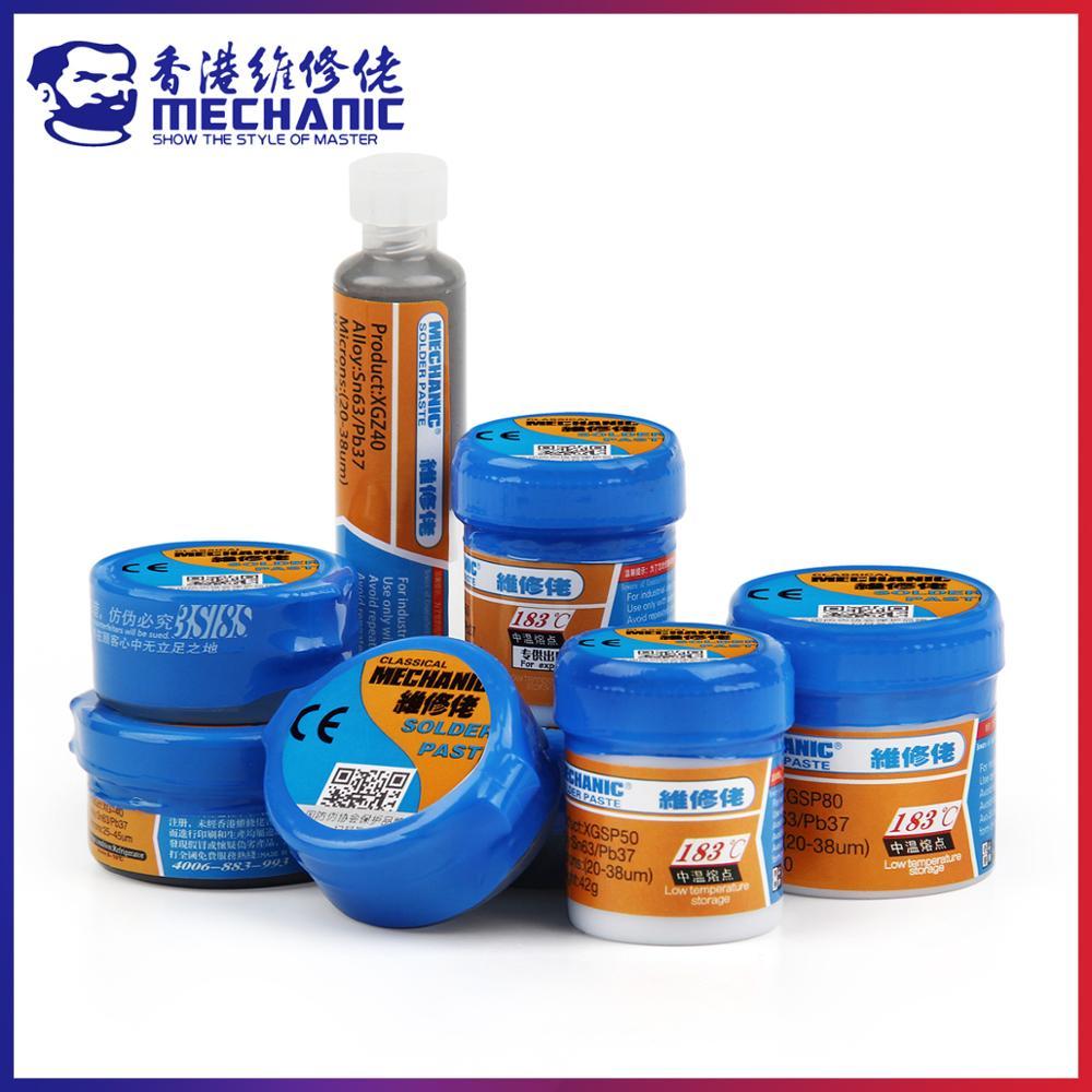 photo of MECHANIC Original Solder Tin Paste 183C Melting Point Welding Flux Soldering Cream Sn63/Pb37 Repair BGA CPU LED Rework Tools