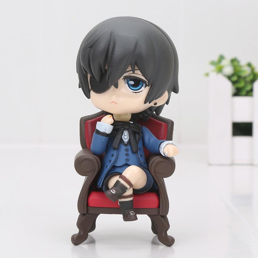 Anime Black Butler Figure toy Kuroshitsuji doll mini black butler Ministers Sebastian Ciel PVC Action Figure Toy-1