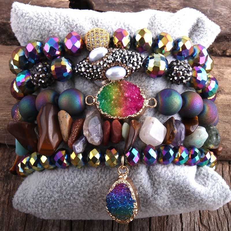 photo of RH Fashion New Designer Boho Bracelet Set Natural Stone  5pc Beaded Bracelets Sets For Women Jewelry Gift Drop Shipping