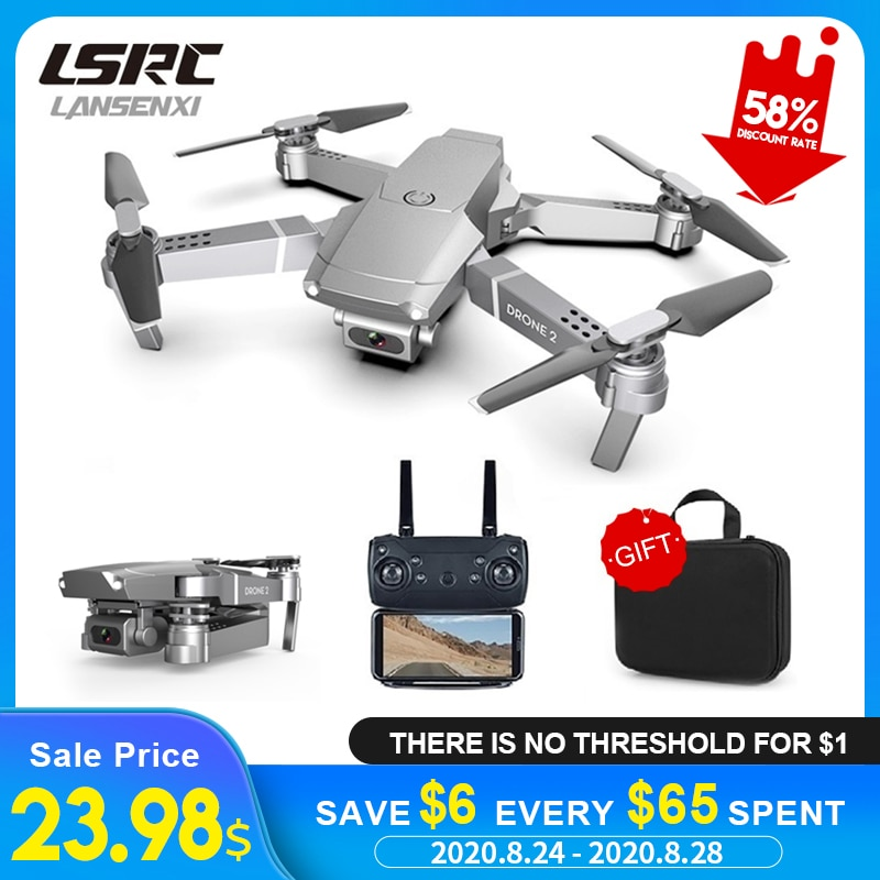 LSRC 2020 E68pro Mini Drone HD 4K 1080P WiFi FPV Camera Drones Height Hold Mode RC Foldable Quadcopter Dron Boy Toy Gift E58/E68-0
