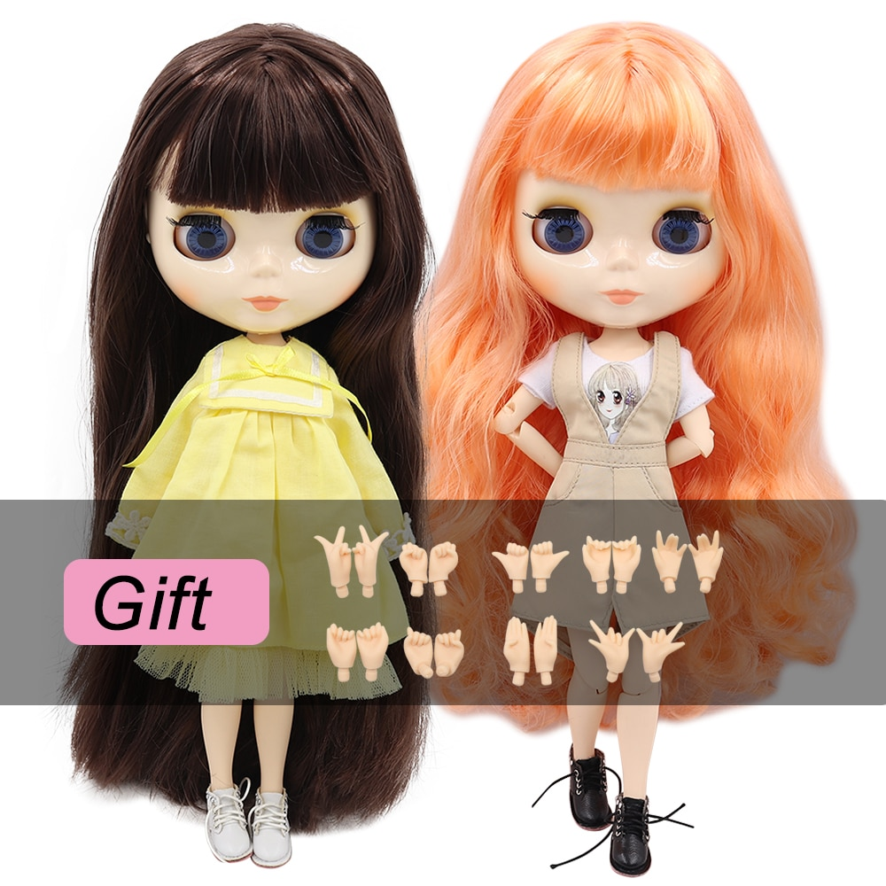 photo of ICY factory blyth doll bjd toy joint body white skin shiny face 30cm 1/6 on sale special offer