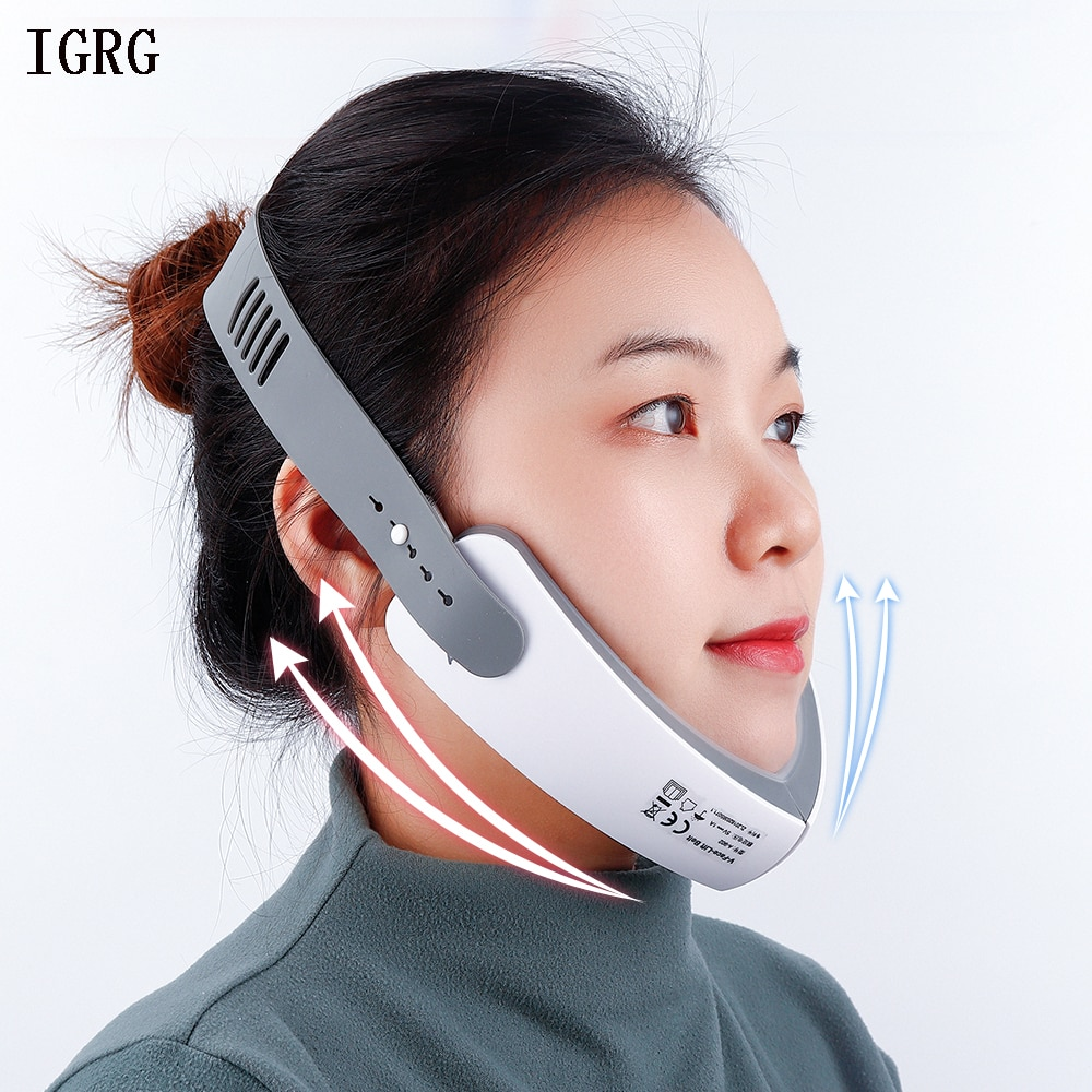 photo of IGRG LED Photon V-Shape Slimming Face Massager Vibration Electric Facial Massage Skin Lifting Tightening Anti-Wrinkles Beauty