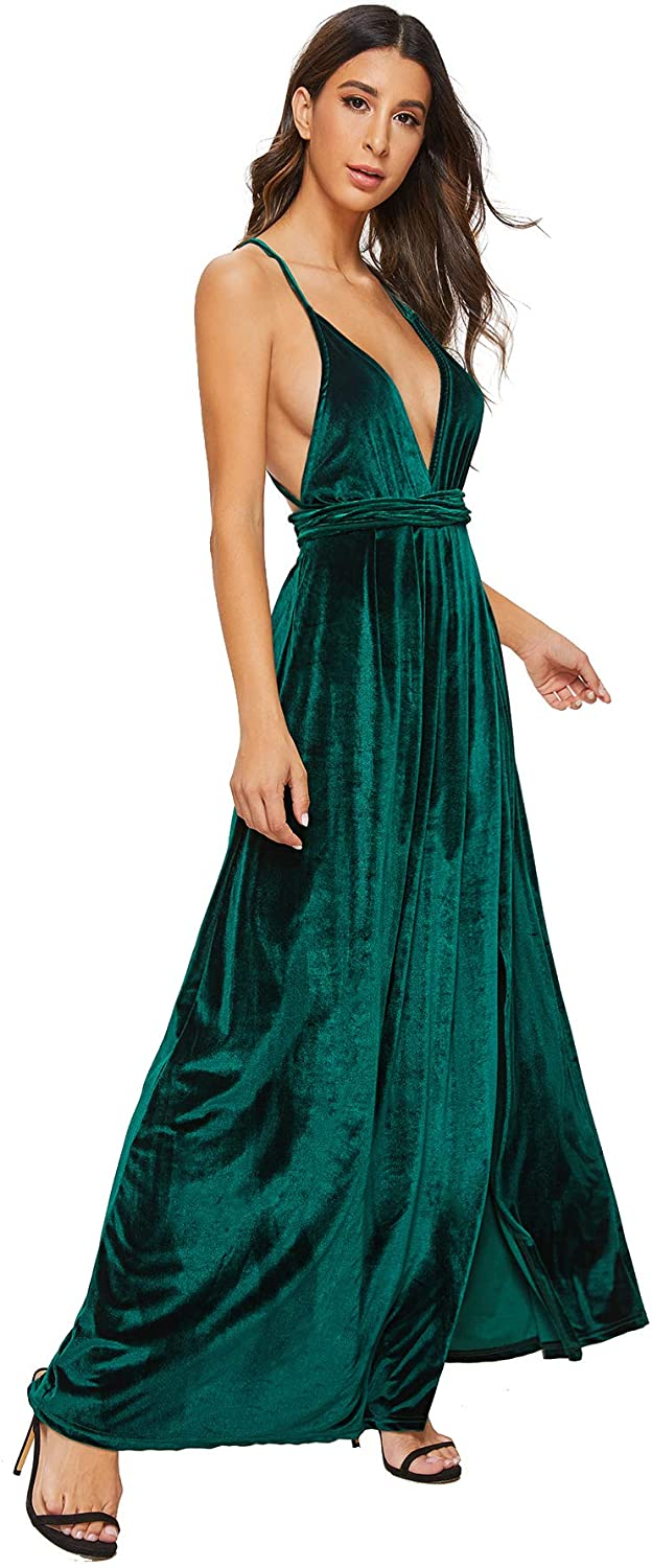 Sexy High Neck Backless Ladies Party Evening Gown 2015