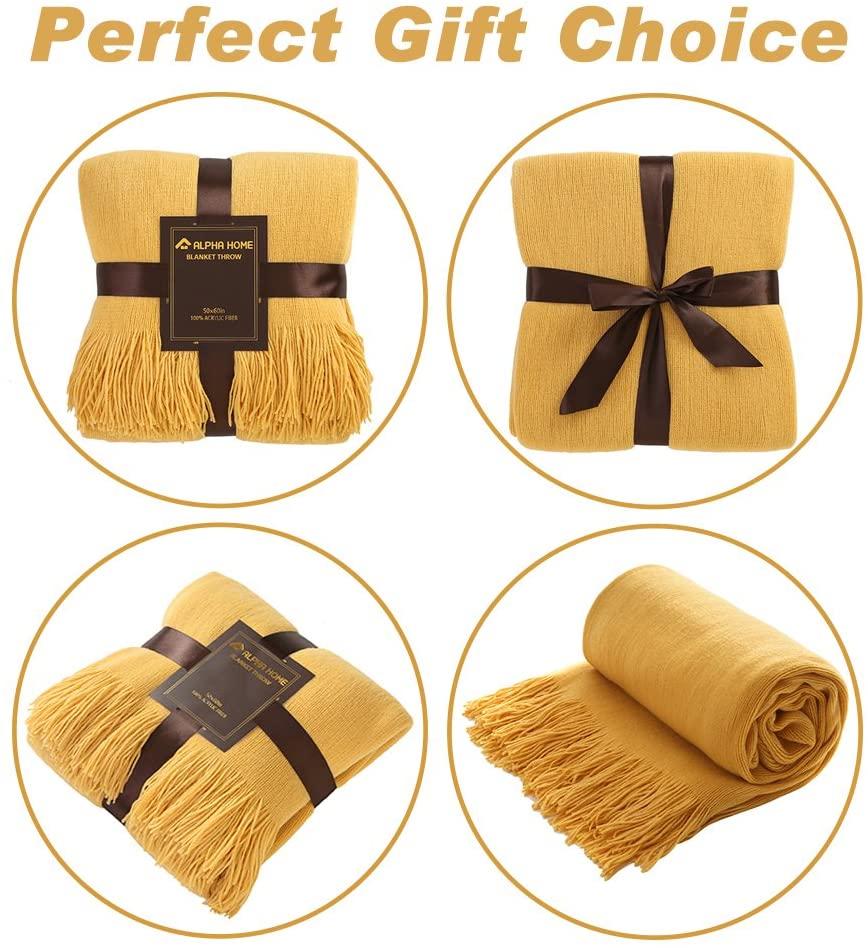 Alpha Home Acrylic Bed Throw Blanket For Couch 50 X 60 Scarf Home Decor Bohemi Ebay
