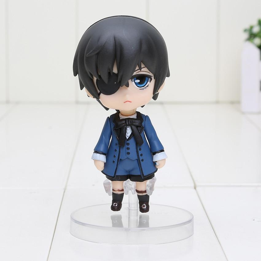 Anime Black Butler Figure toy Kuroshitsuji doll mini black butler Ministers Sebastian Ciel PVC Action Figure Toy-2