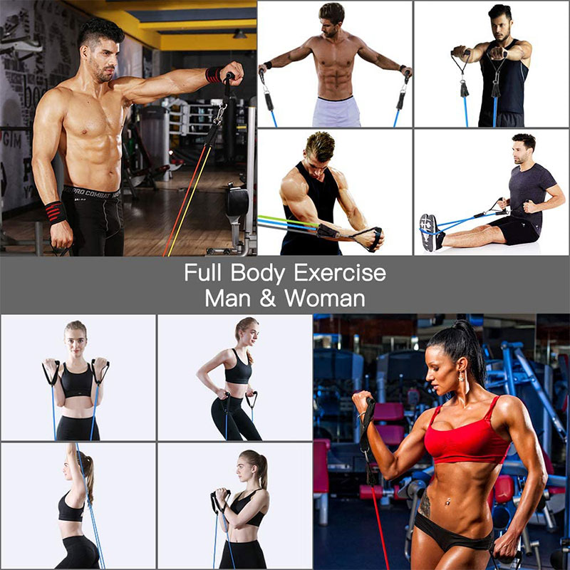 11Pcs/Set Latex Resistance Bands Crossfit Training Exercise Yoga Tubes Pull Rope Rubber Expander Elastic Bands Fitness Equipment-3