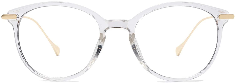 SOJOS Classic Round Blue Light Blocking Glasses Eyewear TR90 Frame AEON SJ5075