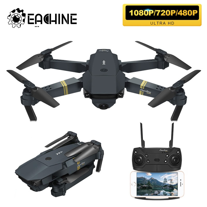 photo of Eachine E58 WIFI FPV With Wide Angle HD 1080P/720P/480P Camera Hight Hold Mode Foldable Arm RC Quadcopter Drone X Pro RTF Dron