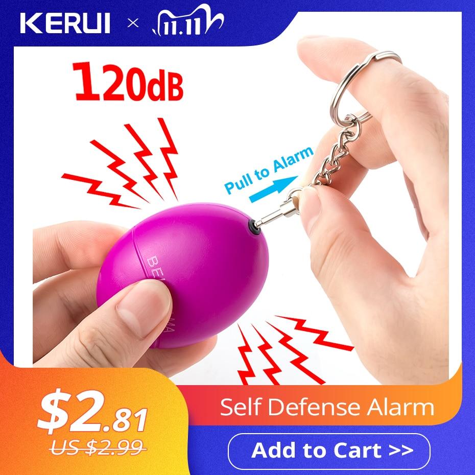 photo of KERUI Self Defense Alarm 120dB Egg Shape Girl Women Security Protect Alert Personal Safety Scream Loud Keychain Emergency Alarm