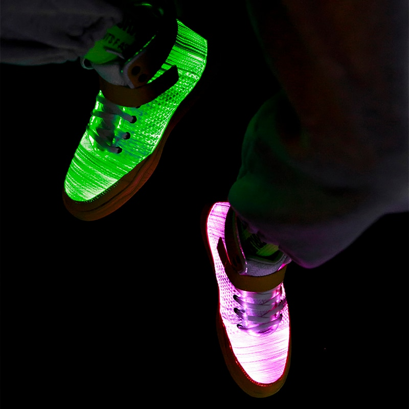 UncleJerry 2020 New Fiber Optic Shoes big boys girls and adult USB Rechargeable Glowing Sneakers Party Shoes Cool Street Shoes-4