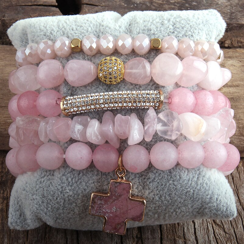 RH Fashion New Designer Boho Bracelet Set Natural Stone  5pc Beaded Bracelets Sets For Women Jewelry Gift Drop Shipping-2
