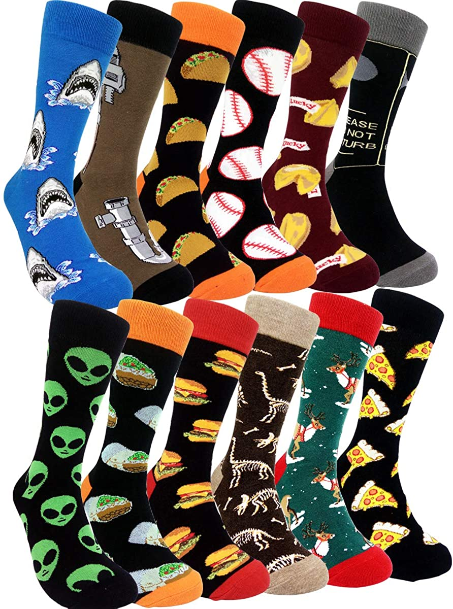 Funny Mens Colorful Dress Socks - HSELL Fun Novelty Patterne