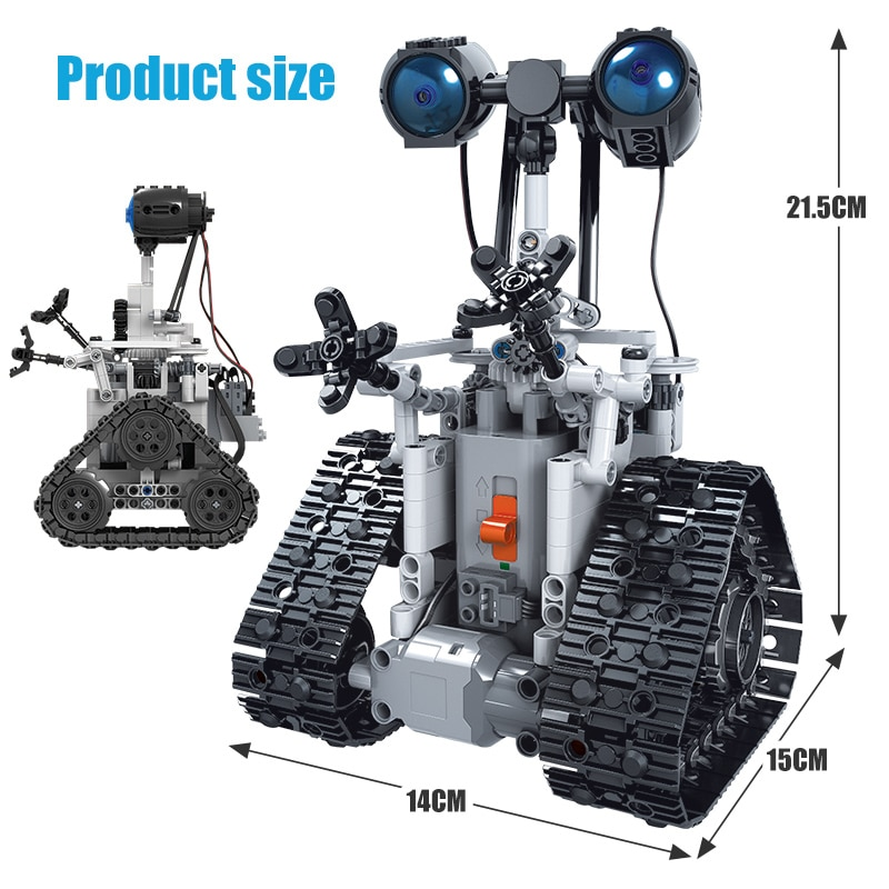ERBO 408PCS City Creative RC Robot Electric Building Blocks Technic Remote Control Intelligent Robot Bricks Toys For Children-5