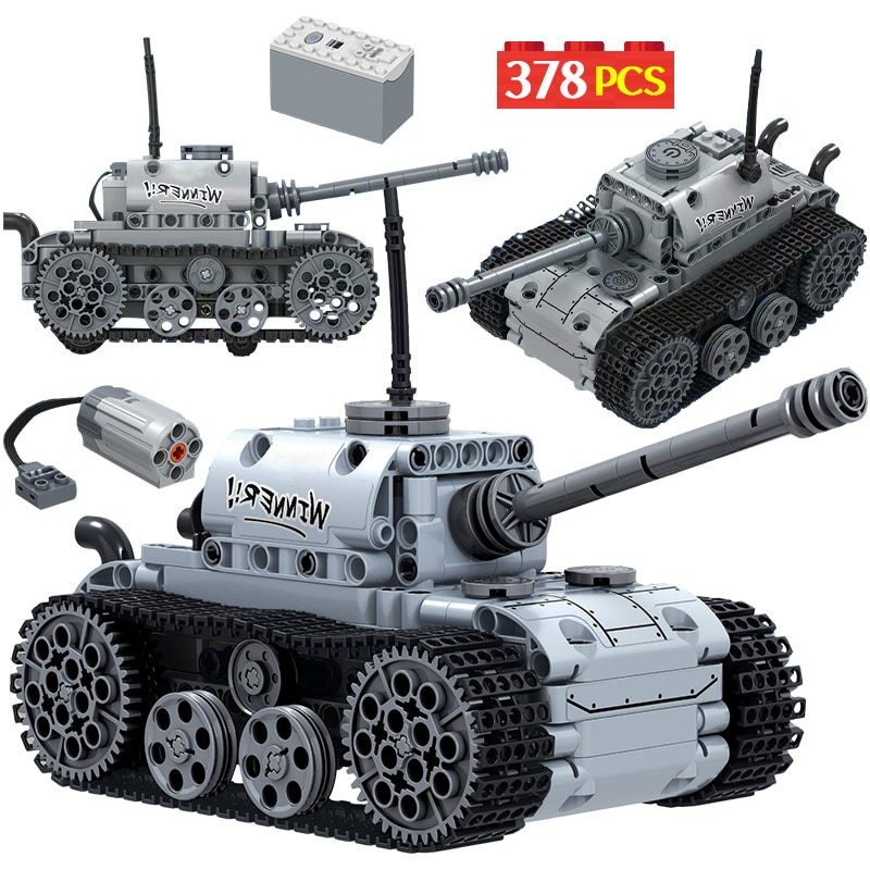 photo of City Military Electric Motor Tank Building Blocks Technic Tank Track Army Soldier Figure Bricks Education Toys For Boys