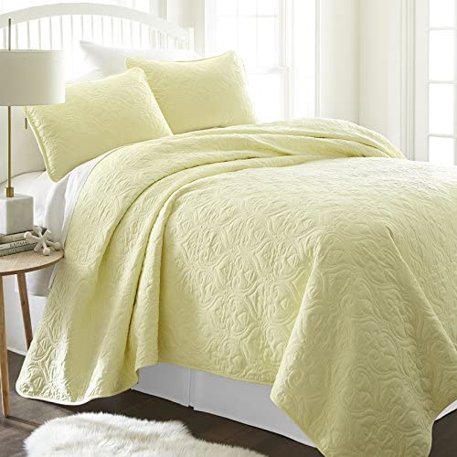 simply soft quilted coverlet set damask patterned