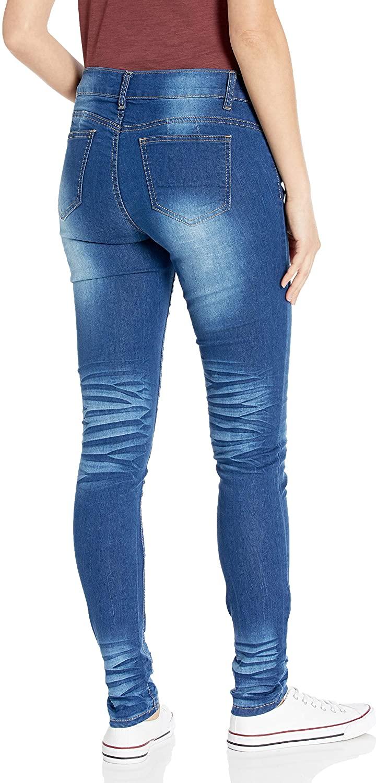 CG JEANS Women's Skinny Leg Blue Junior Fit Slim Mid Waist ...