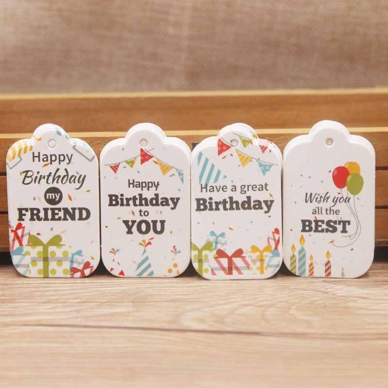 Birthday Label Tag Gift Card Happy Birthday Label Paper-1