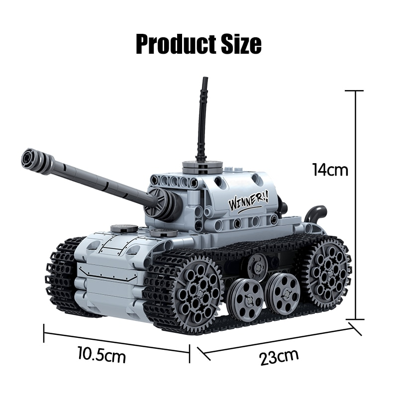 City Military Electric Motor Tank Building Blocks Technic Tank Track Army Soldier Figure Bricks Education Toys For Boys-5