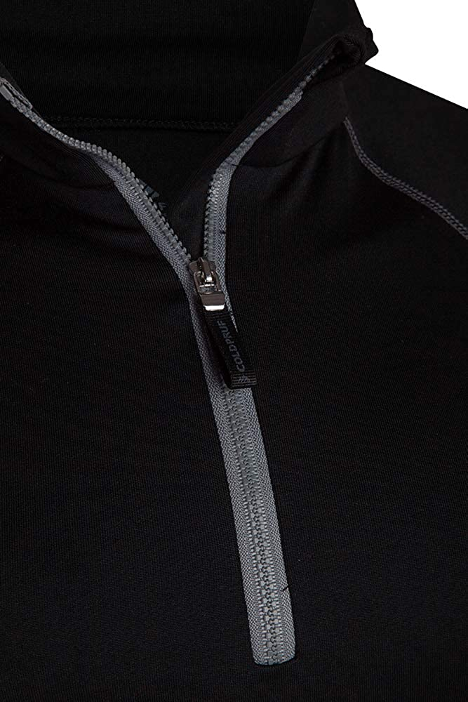 ColdPruf Mens Quest Performance Base Layer 1//4 Zip Mock Neck Top