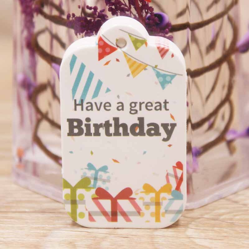 Birthday Label Tag Gift Card Happy Birthday Label Paper-3