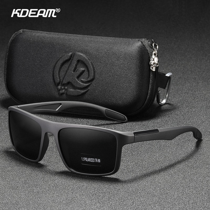 KDEAM Rectangular Ultra Light TR90 Sunglasses Men Polarized TAC 1.1mm Thickness Lens Driving Sun Glasses Women Sports Cat.3-2