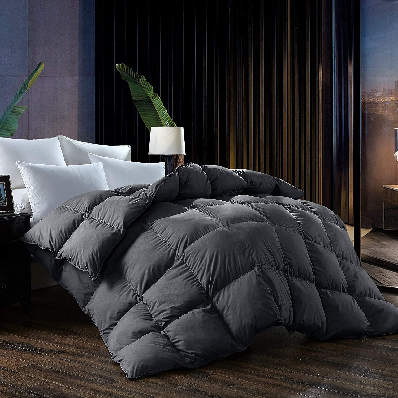 L LOVSOUL Queen Comforter,Goose Down Comforter All Season Du