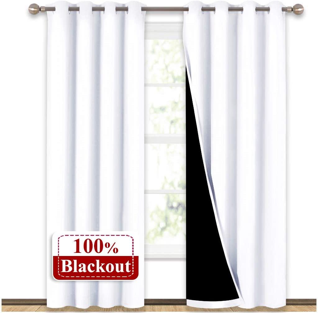 nicetown 100 percent blackout window curtain panels