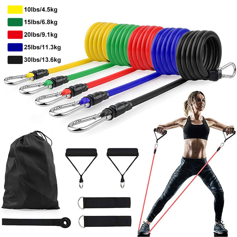 photo of 11Pcs/Set Latex Resistance Bands Crossfit Training Exercise Yoga Tubes Pull Rope Rubber Expander Elastic Bands Fitness Equipment