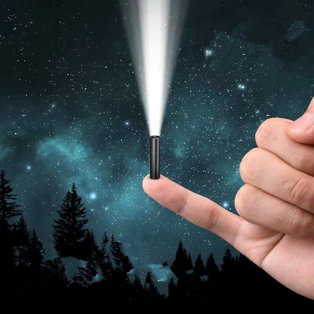 photo of Super Bright Mini Light 3 Modes USB Rechargeable Mini Flashlight with Build in 14500 Battery