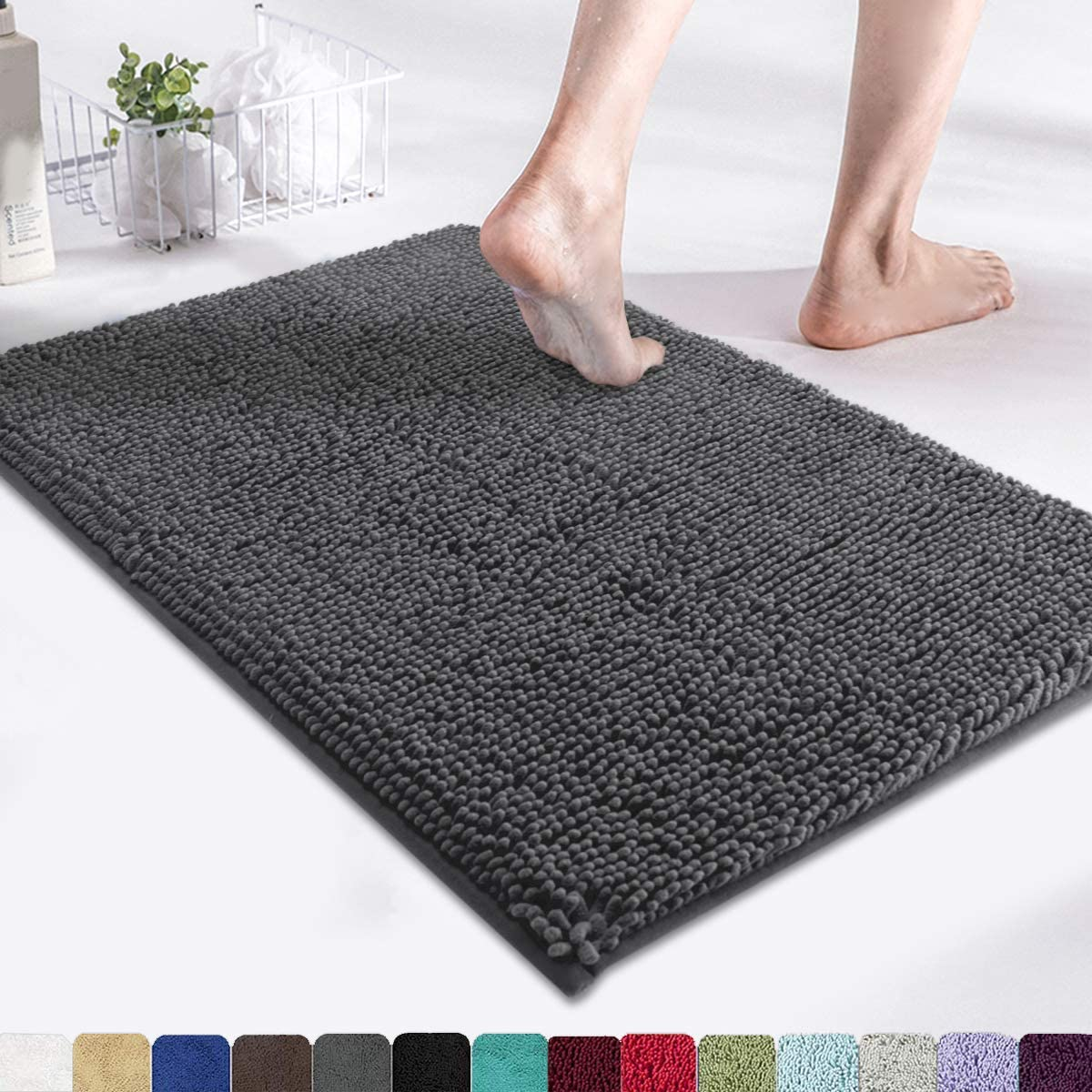 MAYSHINE Bath Mats for Bathroom Rugs Soft, Absorbent, Shaggy