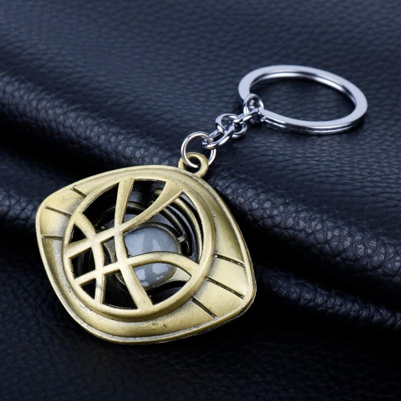 Doctor Who Keychain Strange Eye of Agamotto Key Chain TARDIS Key Rings For Gift Chaveiro Car Key Ring Jewelry Movie Trinket-2
