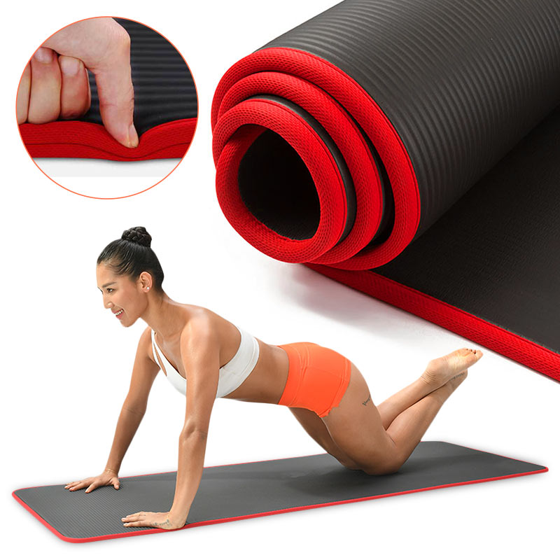 10mm Yoga Mat Extra Thick 1830*610mm NRB Non-slip Pillow Mat For Men Women Fitness Tasteless Gym Exercise Pads Pilates Yoga Mat-0