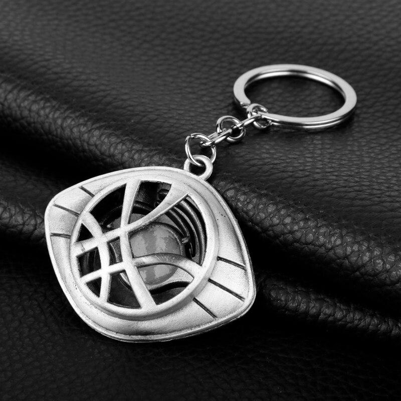 Doctor Who Keychain Strange Eye of Agamotto Key Chain TARDIS Key Rings For Gift Chaveiro Car Key Ring Jewelry Movie Trinket-3