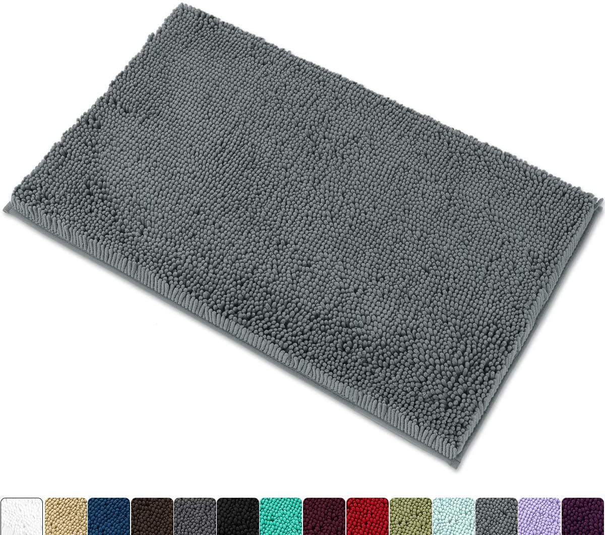 "MAYSHINE Chenille Bath Mat for Bathroom Rugs 32"" x20"", Extra"