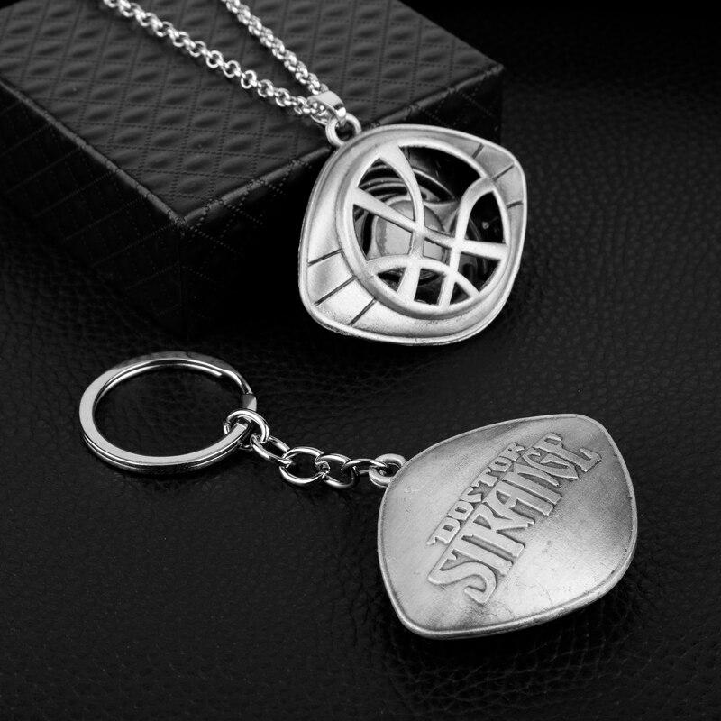 Doctor Who Keychain Strange Eye of Agamotto Key Chain TARDIS Key Rings For Gift Chaveiro Car Key Ring Jewelry Movie Trinket-4