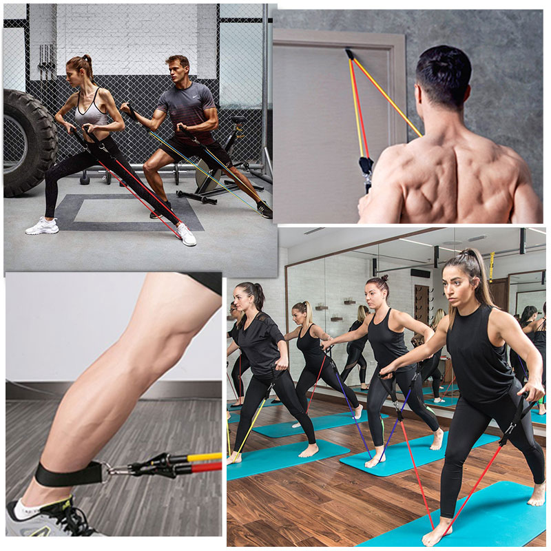 11Pcs/Set Latex Resistance Bands Crossfit Training Exercise Yoga Tubes Pull Rope Rubber Expander Elastic Bands Fitness Equipment-5